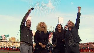 WS2014 Gm3: Little Big Town performs national anthem