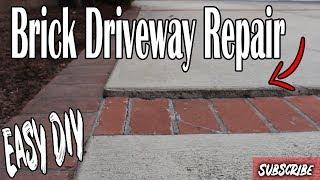 How to Repair an Unlevel Brick Concrete Driveway DIY