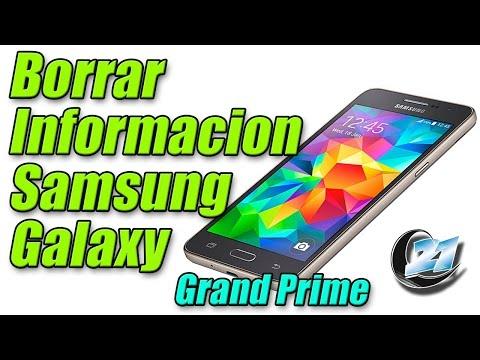 Como borrar información del Samsung Galaxy Grand Prime.