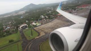 Garuda Indonesia PK-GFK takeoff from Sam Ratulangi Airport in Manado