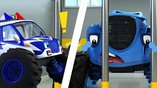 Police Car Arrests Trouble Maker | Monster Truck, Truck Song | Nursery Rhymes | Kids Songs | BabyBus