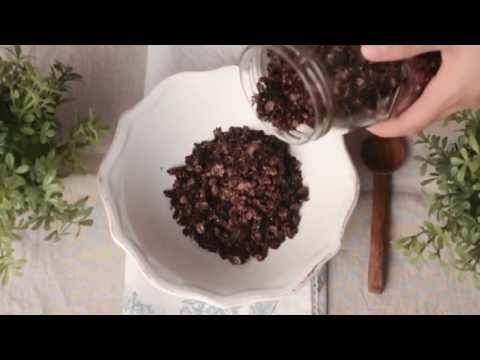 How To Make Salted Dark Chocolate Health Granola غرانولا مملحة مع الشوكولاته الداكنة
