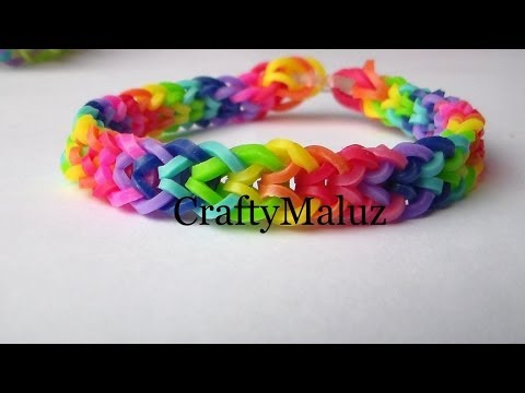 Pulsera De Gomitas / Rainbow Loom Iverted Fishtail