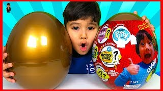 Ryan's World Golden Mystery Egg Surprise Toys | Early Christmas Present Surprise