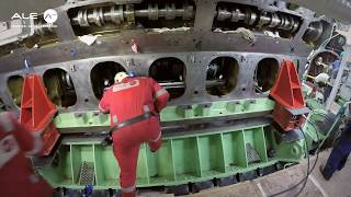 Crankshaft exchange on the MS Zaandam cruise ship