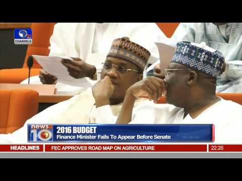 News@10:  Finance Minister Fails To Appear Before Senate 20/07/16 Pt.2