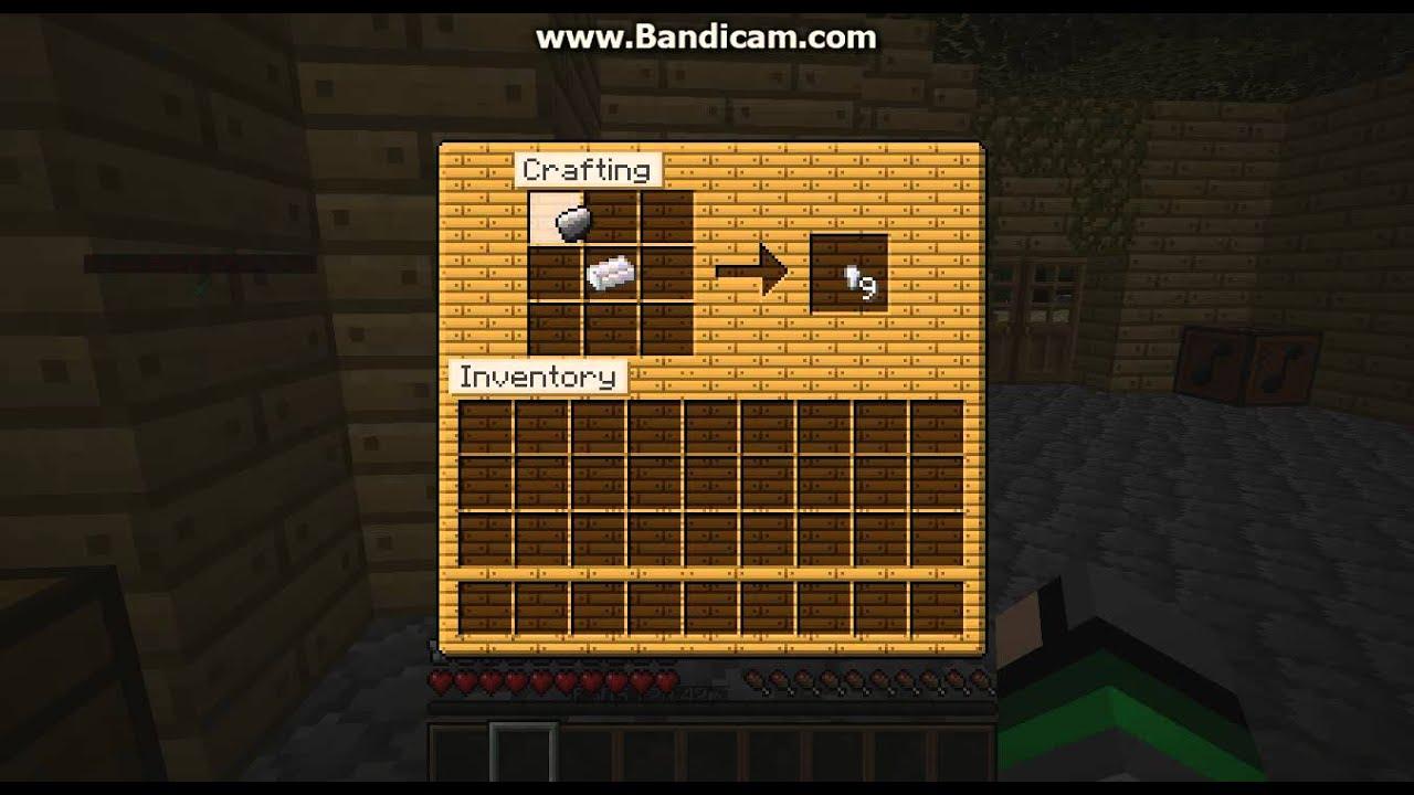как делать зажигалку в minecraft only - YouTube