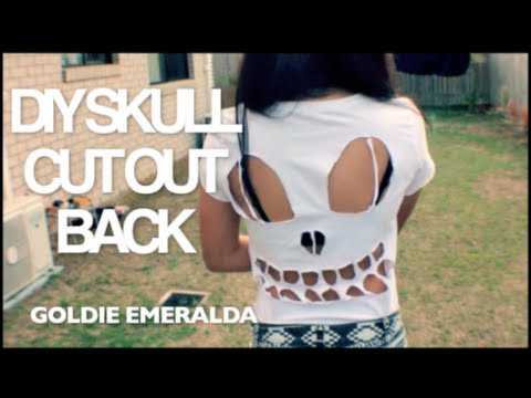 DIY Skull Cut Out Back | Goldie Emeralda