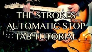 download lagu Automatic Stop - The Strokes  Guitar Tab Tutorial gratis