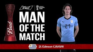 Edinson CAVANI (Uruguay) - Man of the Match - MATCH 49