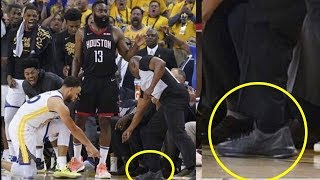 Referee Spotted Wearing KD SNEAKERS During Controversial Warriors v  Rockets Game
