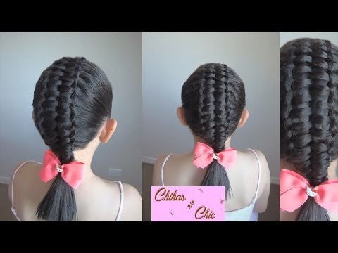 Trenza Doble-Trenza Pasacinta Doble/Double - Double Passes Through Ribbon Braid