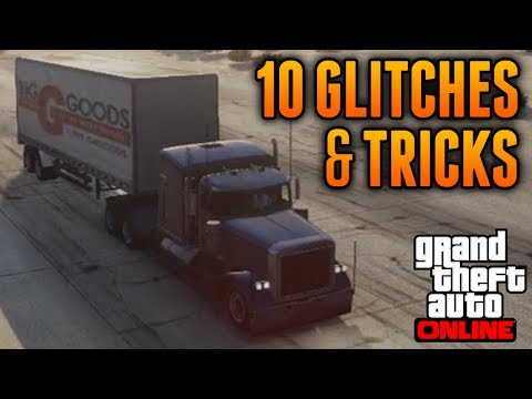 GTA 5 Online - 10 Glitches & Tricks Online! (Super Speed, Wingsuit, Skateboard Glitch & More)