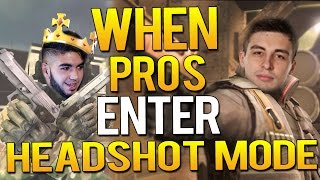 CS:GO - WHEN PROS ENTER HEADSHOT MODE (ONE TAPS,99% HEADSHOT GAMEPLAY)