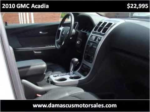 2010 GMC Acadia Used Cars Damascus VA