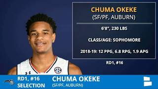 2019 NBA Draft: Orlando Magic Select Forward Chuma Okeke From Auburn With Pick #16 In 1st Round