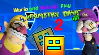 Wario and Waluigi play Geometry Dash 2