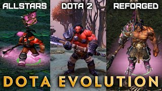 Dota Evolution — HERO COMPARISON: DotA Allstars, Dota 2, WC3 Reforged DotA