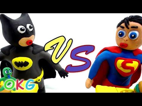 Baby Superman Save Ladybug Elsa Frozen Play Doh Superhero Baby Cartoon Stop Motion