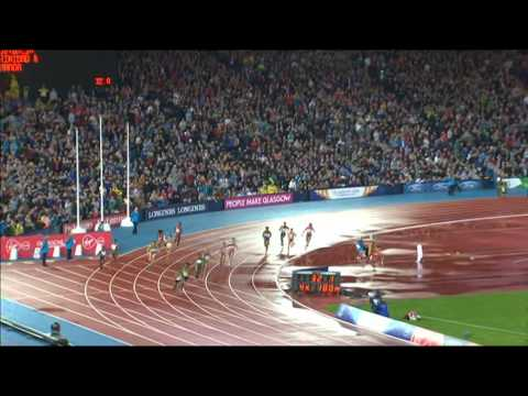 Women's 4 x 100m relay final Commonwealth Games 2014 Glasgow. Jamaica win