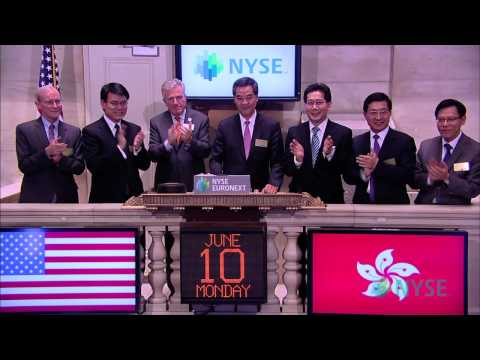 Hong Kong Chief Executive Mr C Y Leung Visits the NYSE