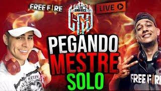 🔴PEGANDO MESTRE SOLO - EL MEGA - FREE FIRE AO VIVO🔴