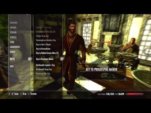 Skyrim - How to Get a Free House(Tutorial+Commentary) XBOX 360 HD