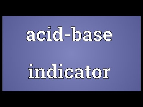 Header of Acid-Base Indicator