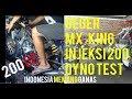 VIDEO Dyno test MX KING INJEKSI 200 cc DRAG BIKE ! Karya Mekanik Roadrace tantang mekanik Drag thumbnail