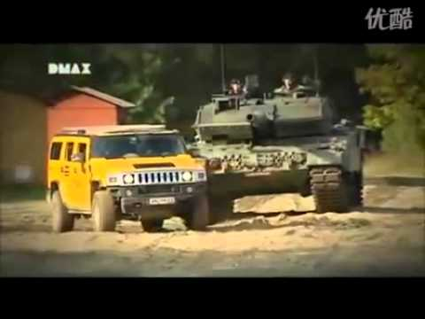 HUMMER H2 and Leopard 2A6.flv
