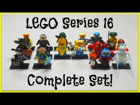 Lego Minifigures Series 16 - Complete Set Opening & Review + Bump Codes!