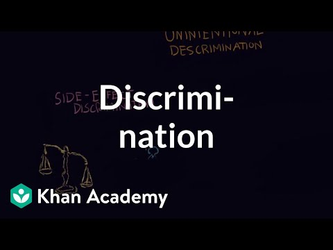 Discrimination individual vs institutional | Individuals and Society | MCAT | Khan Academy