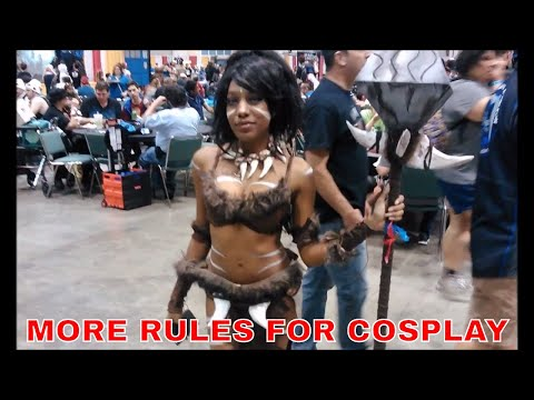 COMIC BOOK CONVENTION SEASON IS HERE ALONG WITH NEW RULES FOR HOW TO TREAT COSPLAYERS