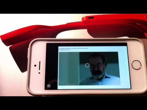 Streaming video hack from a pocket media streamer into the Google Glass browser