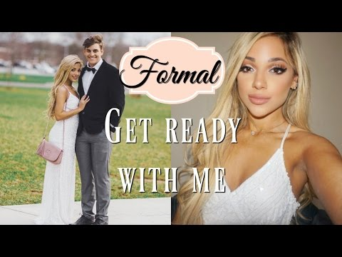 get ready with me for formal 2017! makeup. hair. + dress!