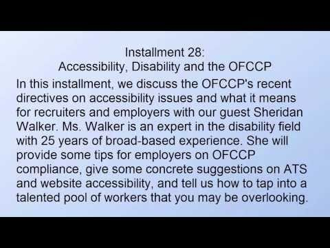 OFCCP Directives on Disability Accessibility
