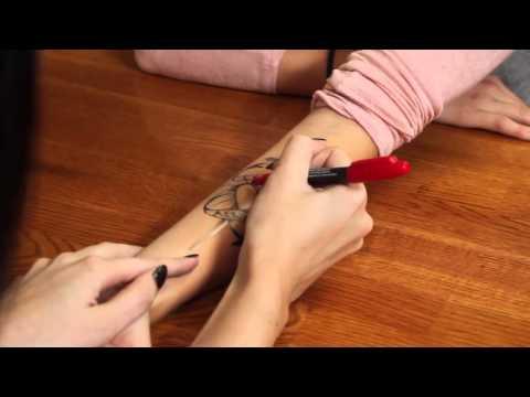 how to make a pen tatoo stay