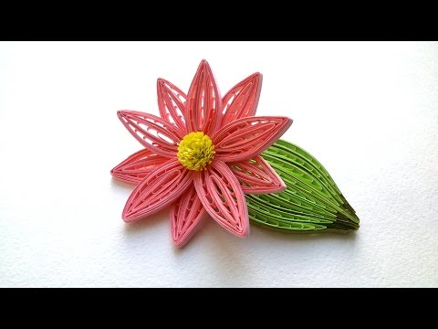 Quilling Flowers Tutorial Quilling flower and  Leaf wiht  a comb tutorial. Creative Paper.