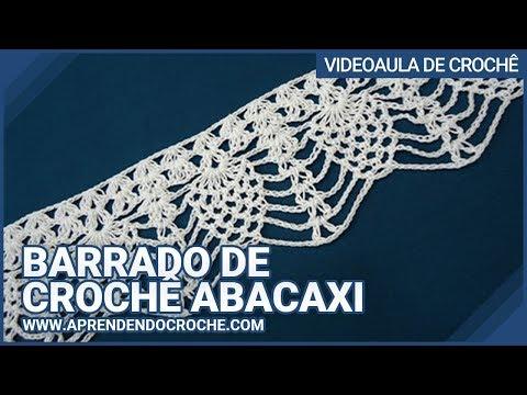 Barrado de Croche Abacaxi - Aprendendo Crochê