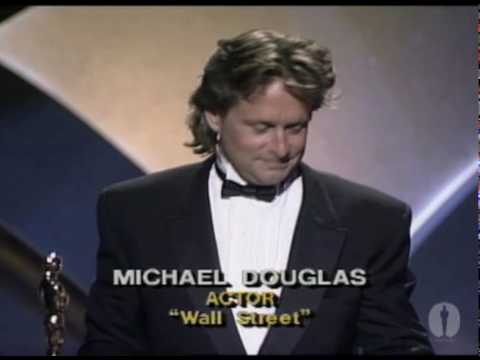 "Michael Douglas winning Best Actor for ""Wall Street"""