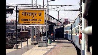 Arriving Gorakhpur Junction : Spotting Rapti Ganga Express & GD WDM3A