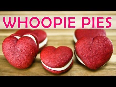 Red Velvet Whoopie Pies (Heart Shaped)- Valentin napi süti