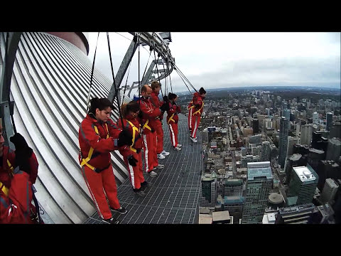 CN Tower EDGE WALK - Best Reaction Video (10/13/12)
