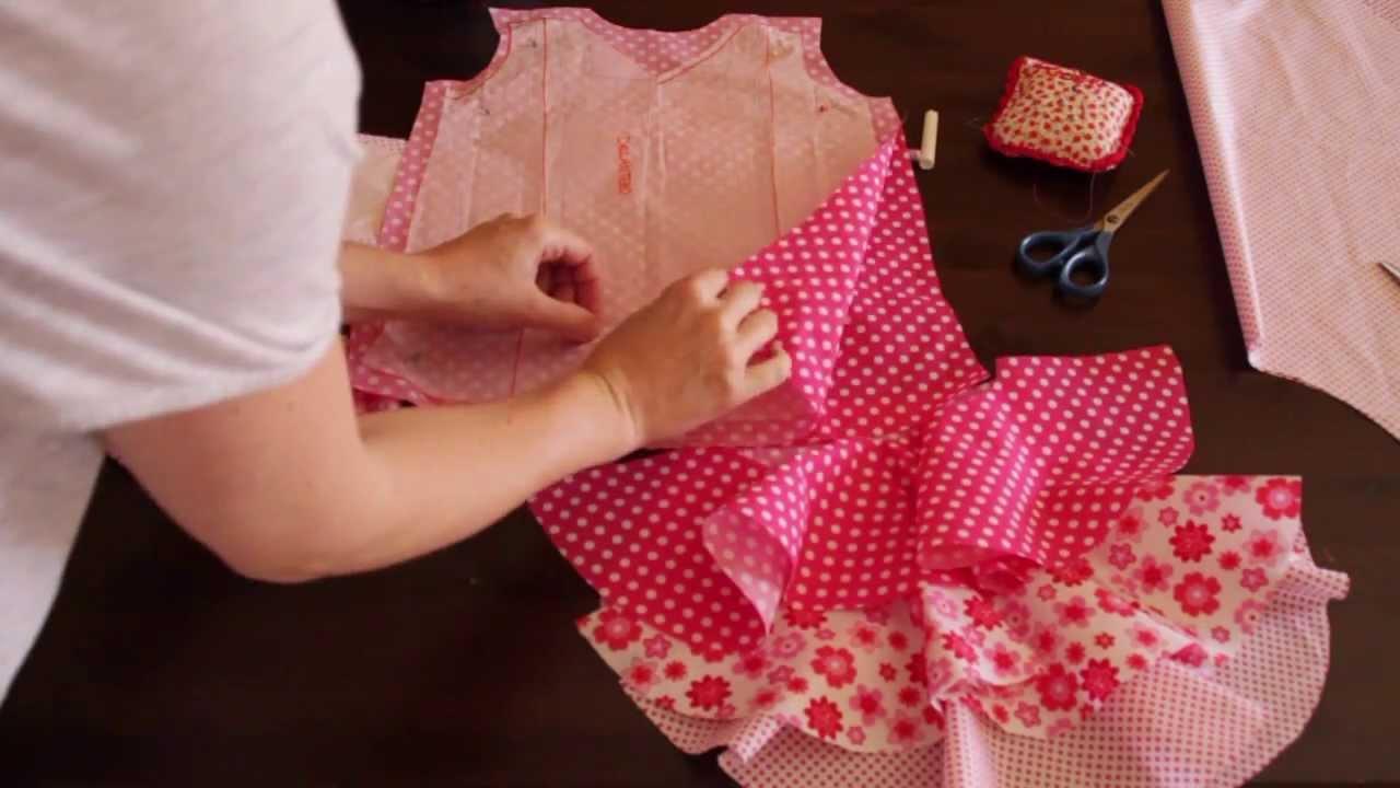 costura- Vestido de flamenca estilo Marisol 1/5 - patrones - YouTube