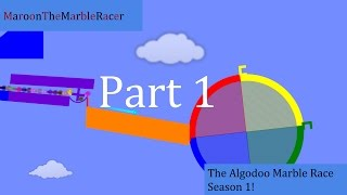 The Algodoo Marble Race - Season 1 - Part 1