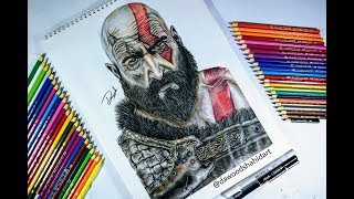 Drawing Kratos - God of War 4 - Sony Interactive Entertainment - Speed Drawing | Dawood Shahid Art