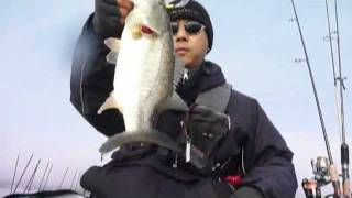 2012.1.22 Bass Fishing in Lake Biwa 琵琶湖 スレッジ