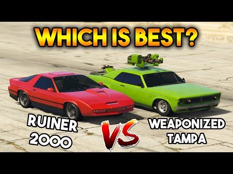 GTA 5 ONLINE : WEAPONIZED TAMPA VS RUINER 2000 (WHICH IS BEST?)