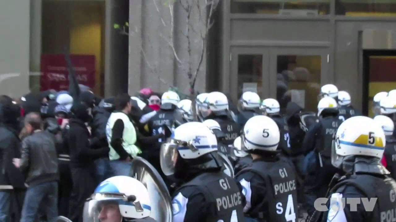 CUTVnews - April 19 2012 Violent police encounter with student protestors