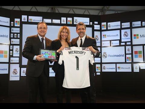 Presentación del acuerdo entre el Real Madrid y Microsoft